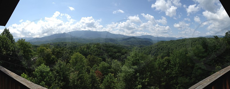Smoky mountain view.  Gatlinburg TN.  photo