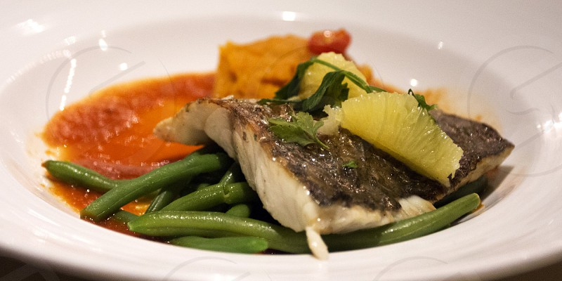 Seared fillet of redfish photo