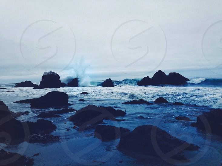 black sea rock photo