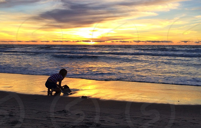 Sandcastle silhouette 2 photo