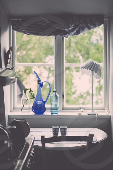 Swedish home window sill in Stockholm photo