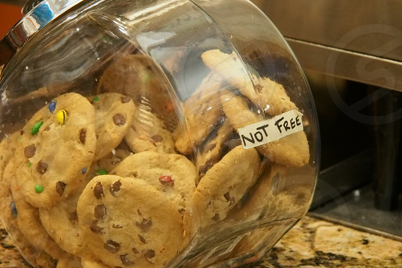 Not free cookies. Chocolate chip. photo