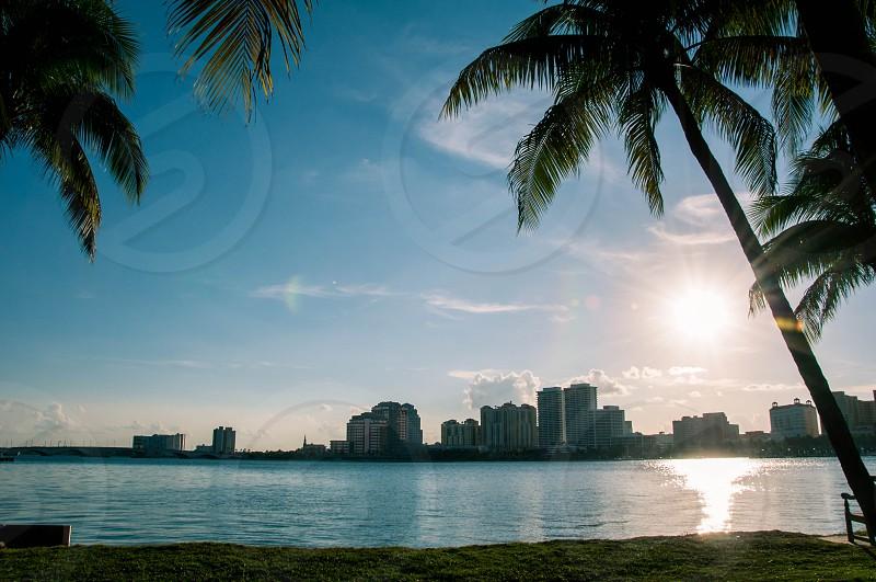 city buildings near sea panoramic photography  photo
