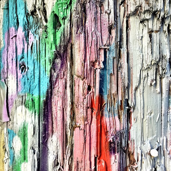 Painted telephone pole detail  photo