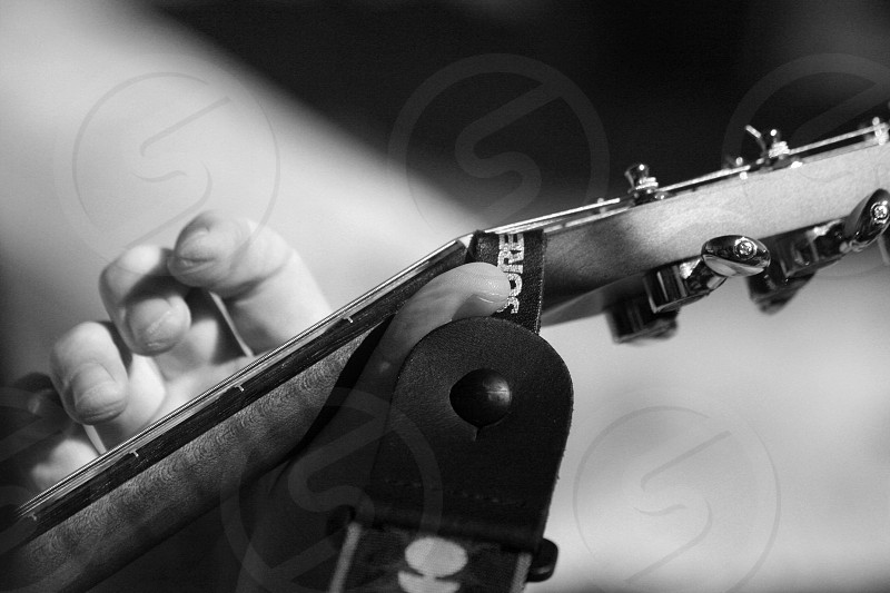 Guitar fingers photo