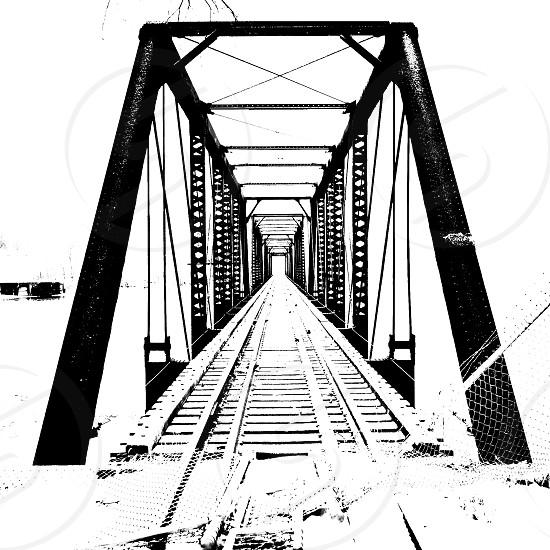 Snow on the tracks photo