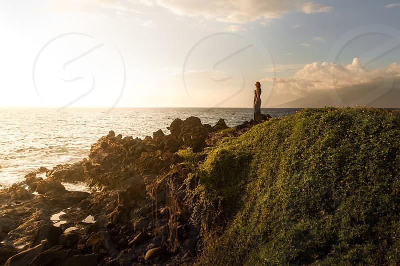 Looking over the coast of Wailea Maui photo
