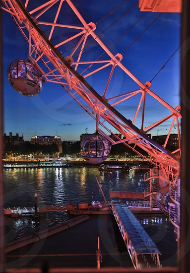 London london eye sightseeing city view evening photo