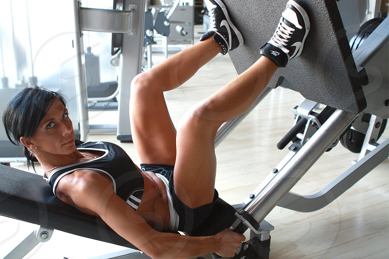 health healthy woman fitness girl workout muscles lifestyle photo