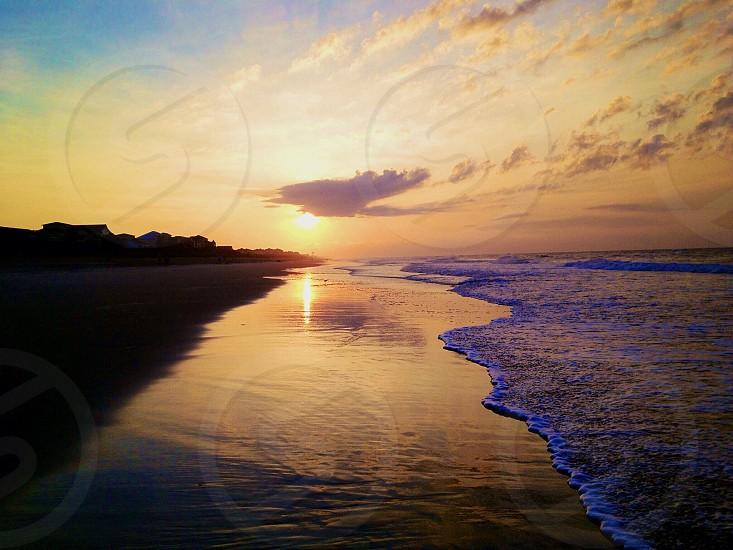 Sunrise on a south-facing beach. photo