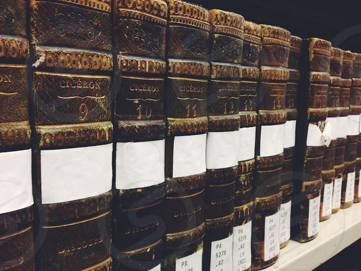 university of ottawa library old books texts vintage roman philosophy photo