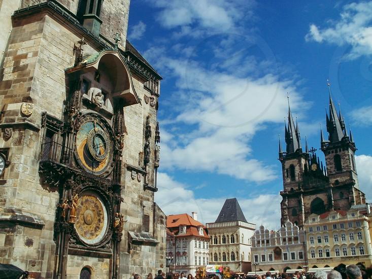 Prague Europe Clock Travel  photo