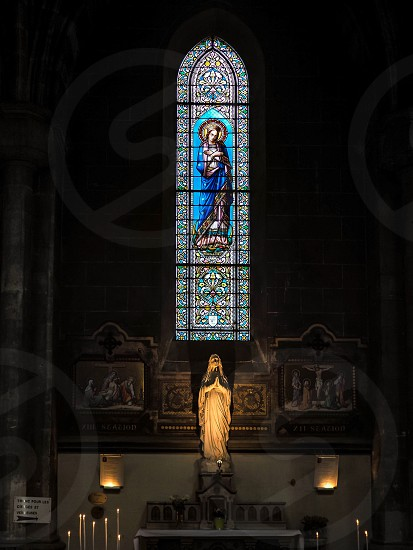 Stained Glass Window in the Church of St Martial in Bordeaux photo
