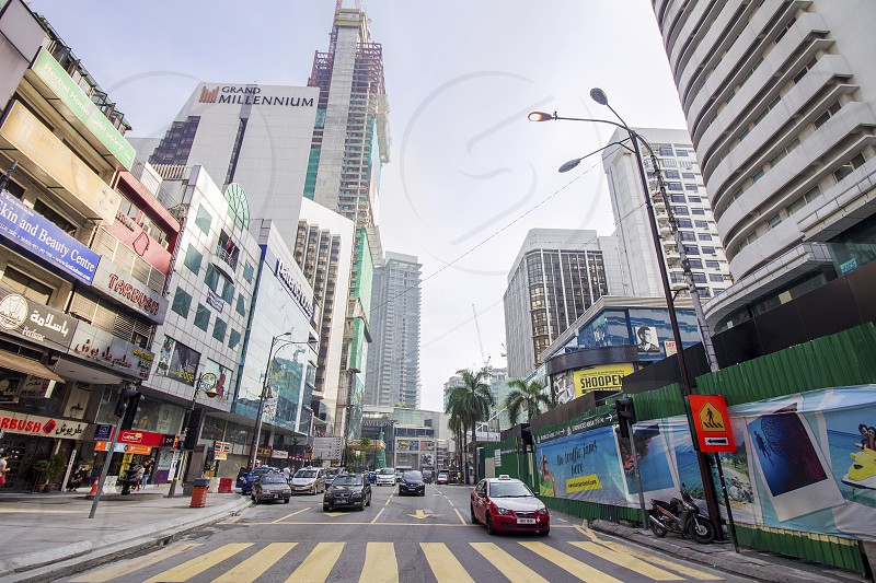 bukit bintang is a famous shopping district in Kuala Lumpur tourists can get there easily via monorail mrt or free buses photo