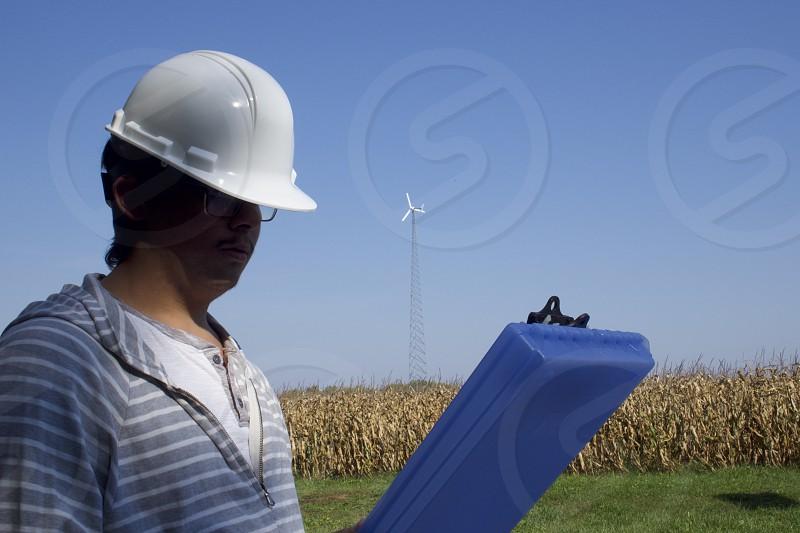 Green Energy Wind Farm Turbine Engineer Technician      photo