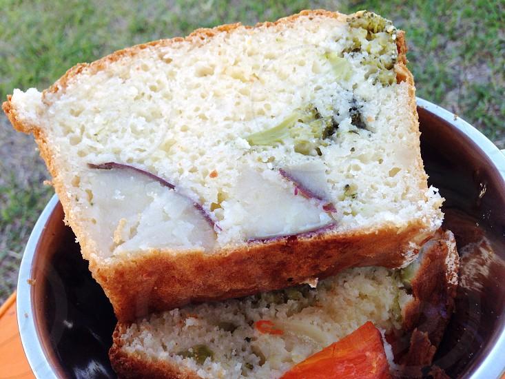 キャンプケークサレさつまいもブロッコリーパン日本Camp Kekusare sweet potatoes broccoli bread Japan photo