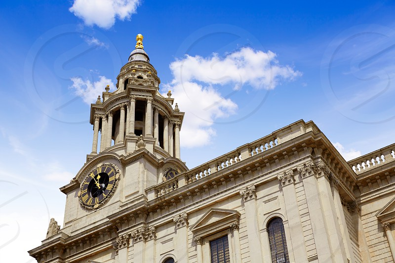 London St Paul Pauls Cathedral facade in England photo