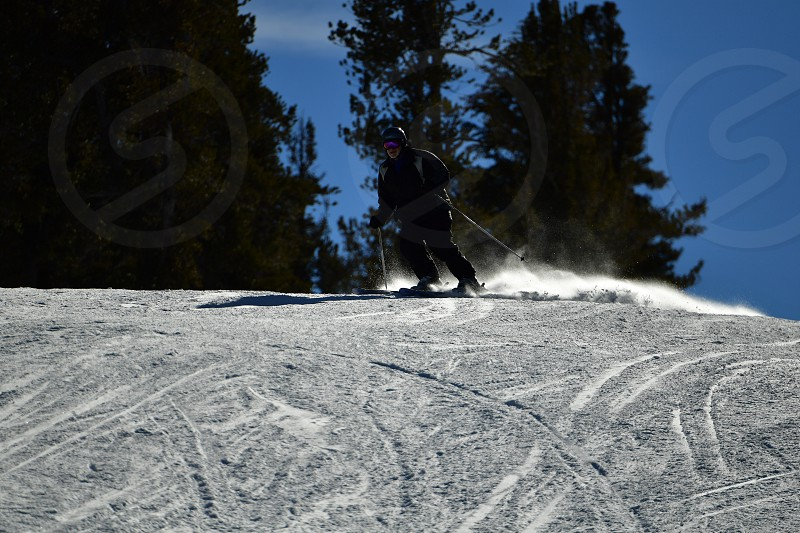 Exciting winter sports photo