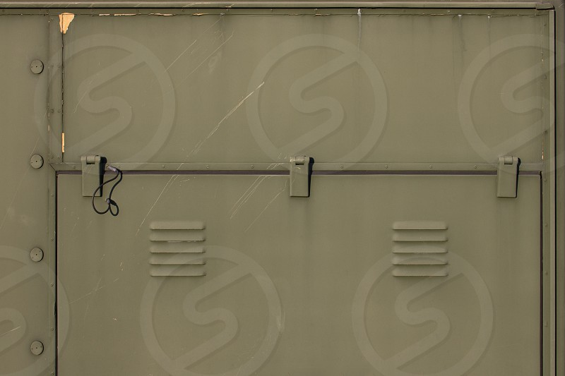 Access Panel Military Green Camouflage Hidden Locked Circulation Hinges Colour Disguise photo