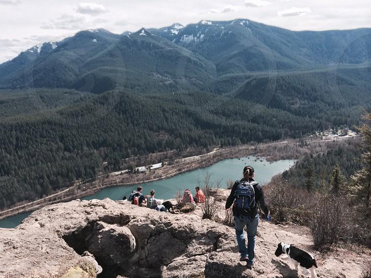 Vacation hike travel destination adventure rattlesnake ridge north bend Washington hikers packers photo