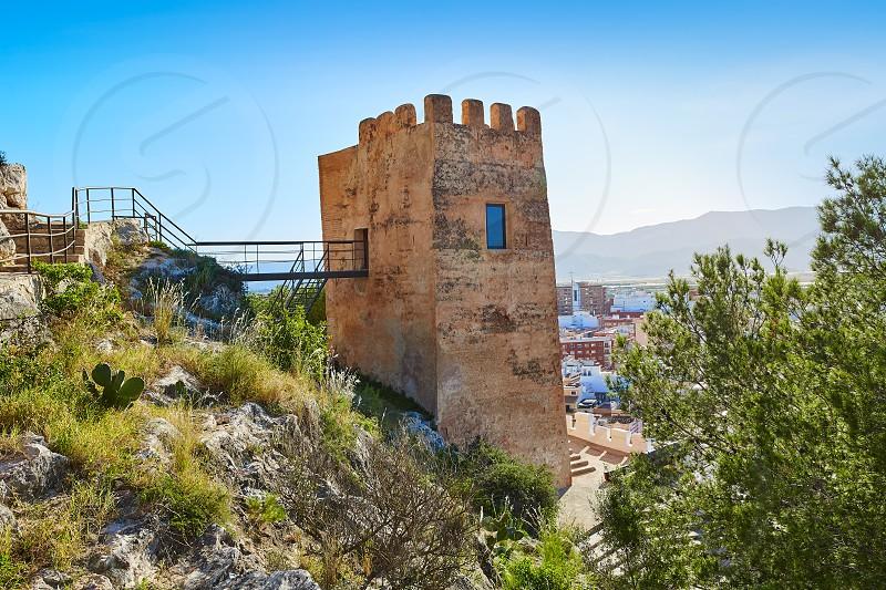Cullera Torre de la Reina Mora tower in Valencia of Spain photo