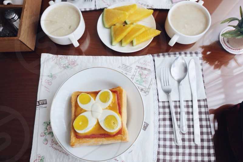 Morning •routine •breakfast  photo