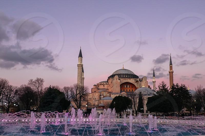 Hagia Sophia Istanbul at sunset photo