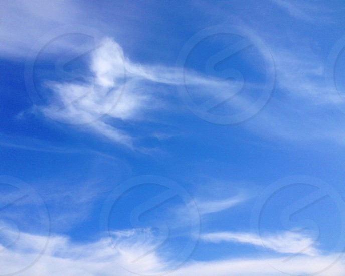 blue sky and white clouds view photo