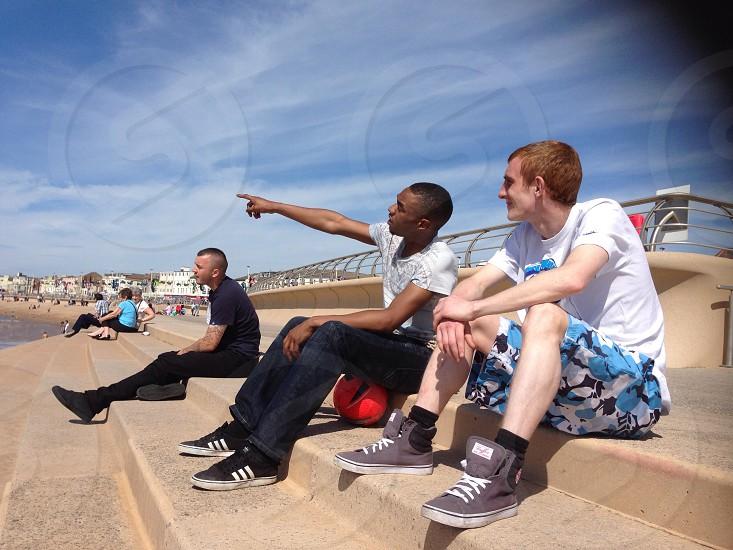 Me n my mates at Blackpool Uk photo