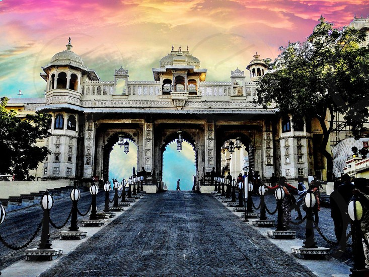 This is the entrance of city palace in UdaipurRajasthanIndia photo