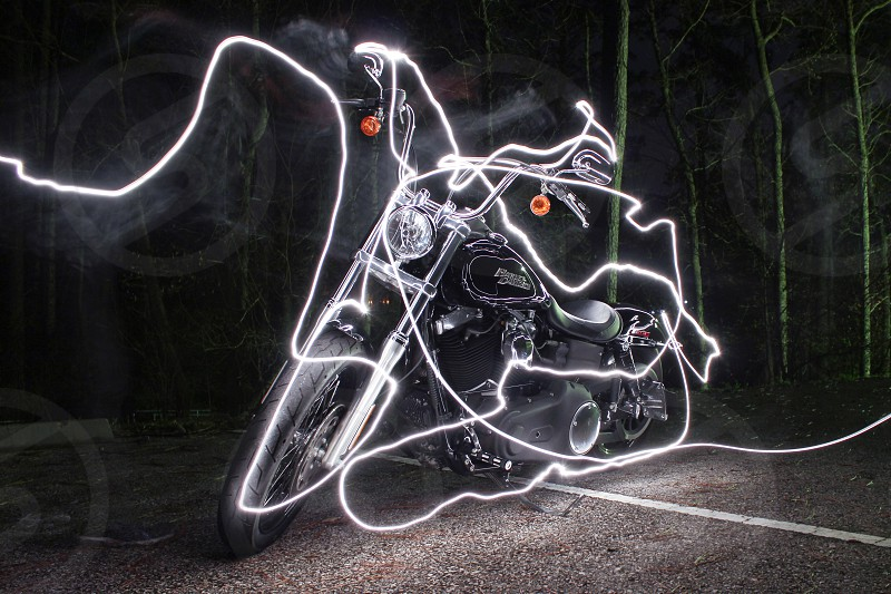 Ghost bike long exposure. photo