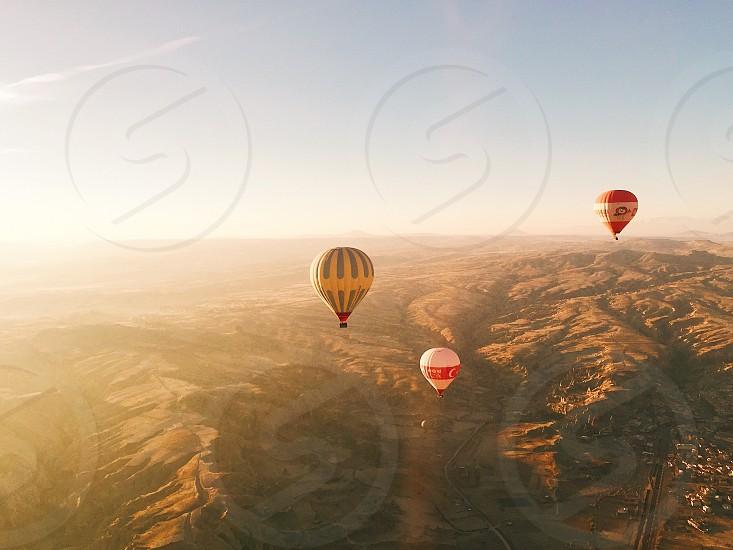 #sky #flying #airballoon #travel #nature #landscape #altitude #vacation #sun #summer photo