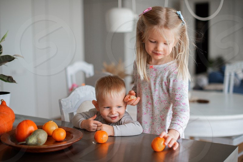Family lifestyle at home photo