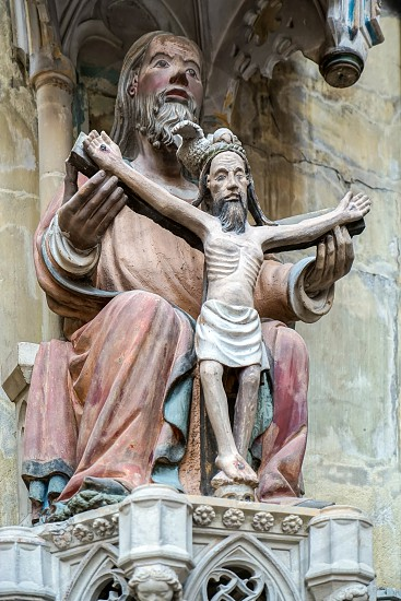 Statue of Christ on the cross in St James Church in Rothenburg photo