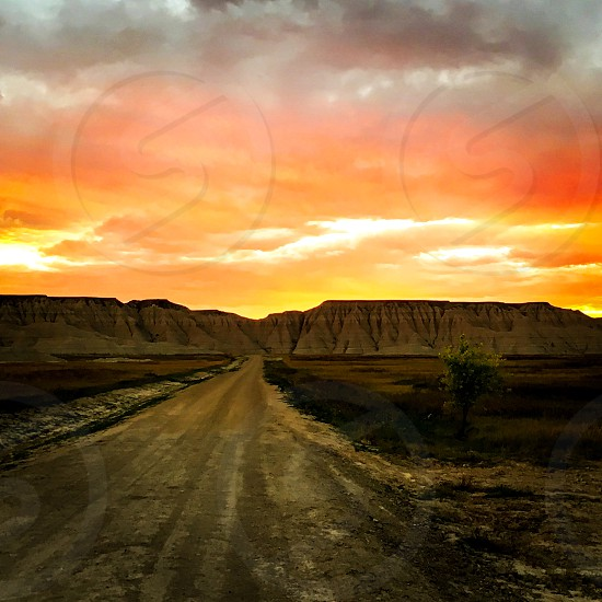 Badlands South Dakota Sunset  photo