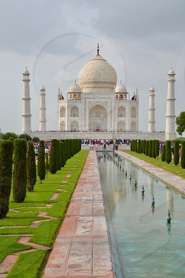 The majestic Taj Mahal in Agra India photo