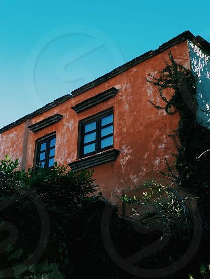 Orange building photo
