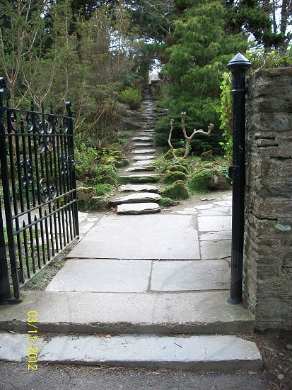 Outdoor staircase at Muckross House. Killarney National Park Ireland. photo