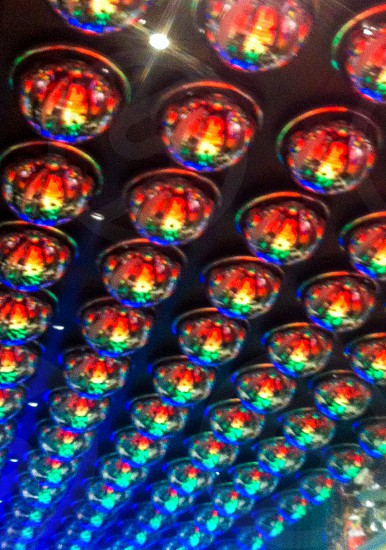 Geometric shapes rainbow mirror reflection lights ceiling photo
