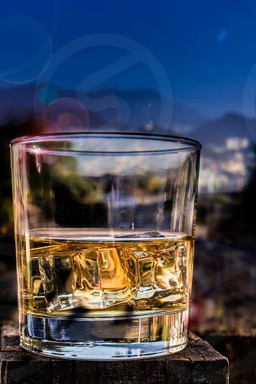 Whiskey bourbon scotch drinks night travel lights party entering  photo