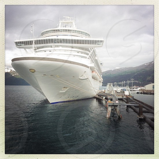 .. a Princess Cruises liner docked in Whittier AK (Hipstamatic lens Jane). photo