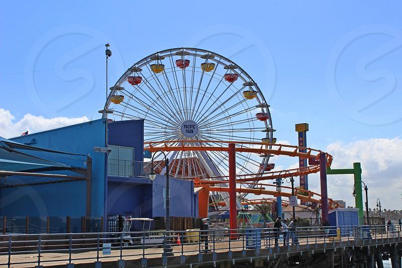 Ferris wheel at Santa Monica CA photo