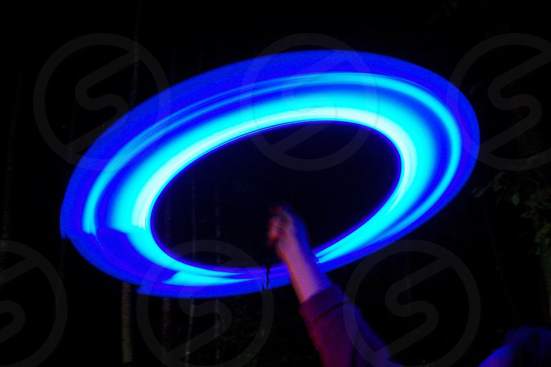 blue round light photo