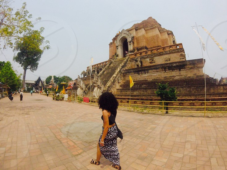 Thailand; girl; temple; history photo