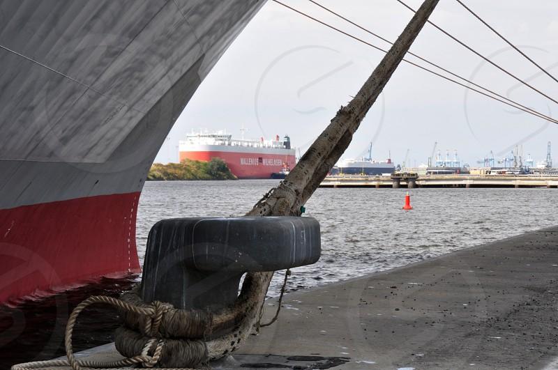 Ship at quay photo