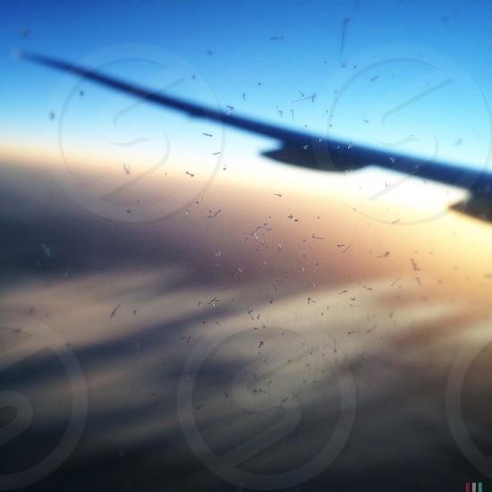 black airplane wing photo