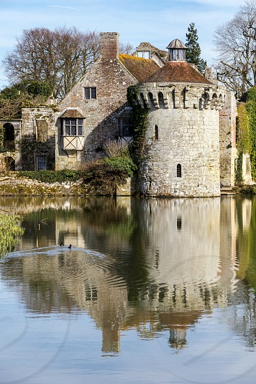View of  a building on the Scotney Castle Estate photo