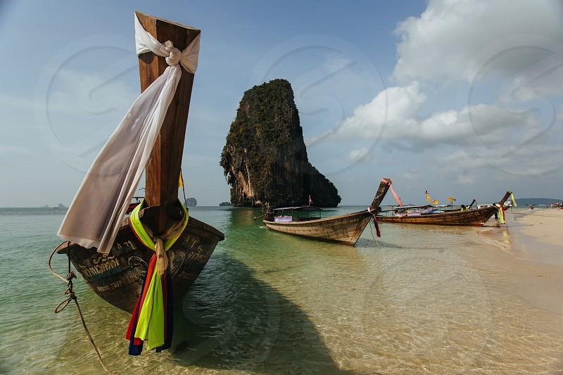 Ao Phra Nang beach Krabi Thailand photo