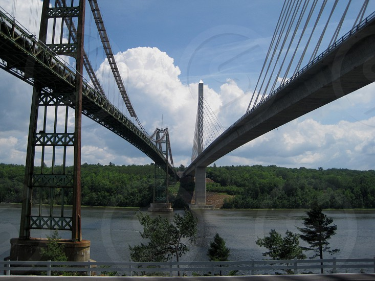 Penobscot Bridge Maine  photo