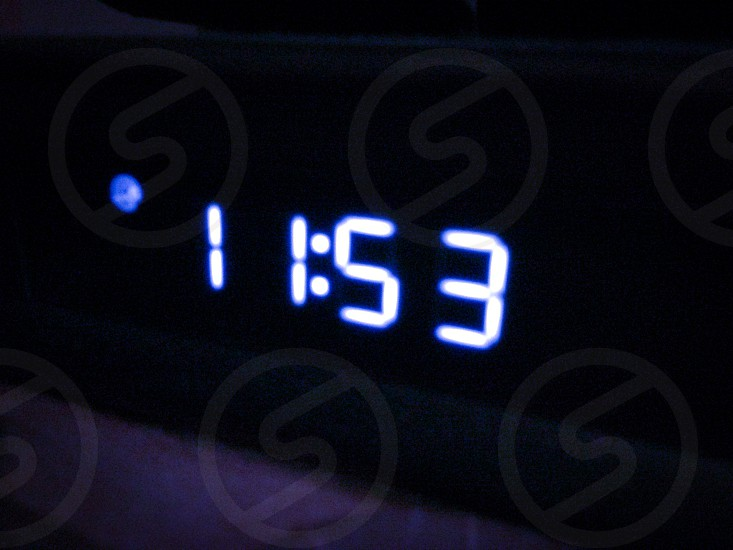 A digital clock photo